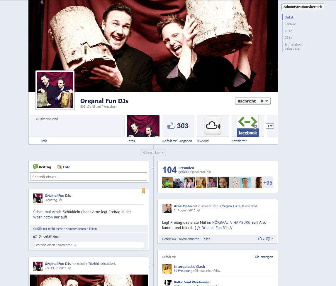 Die Chronik für Facebook-Seiten – Funktionen Zusammengefasst