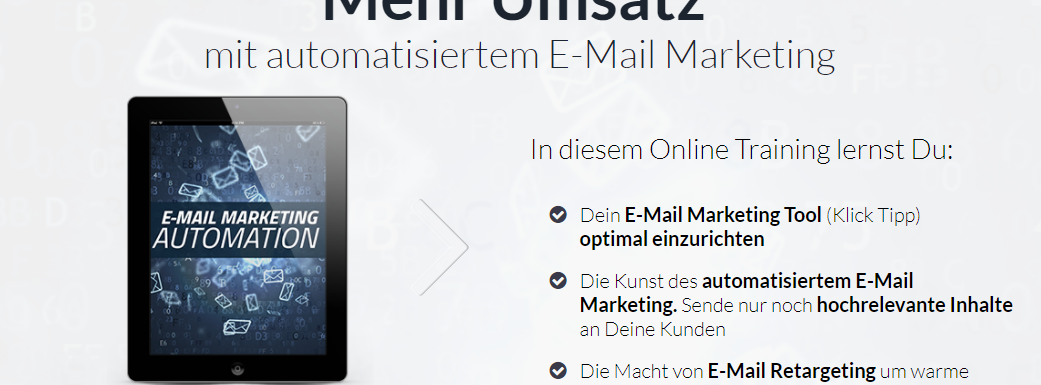 So geht E-Mail-Marketing: Klick Tipp Online Training (Angebot bis 6.8.)