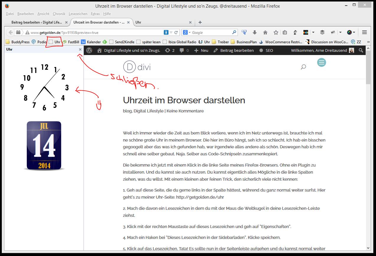 Uhrzeit im Browser darstellen