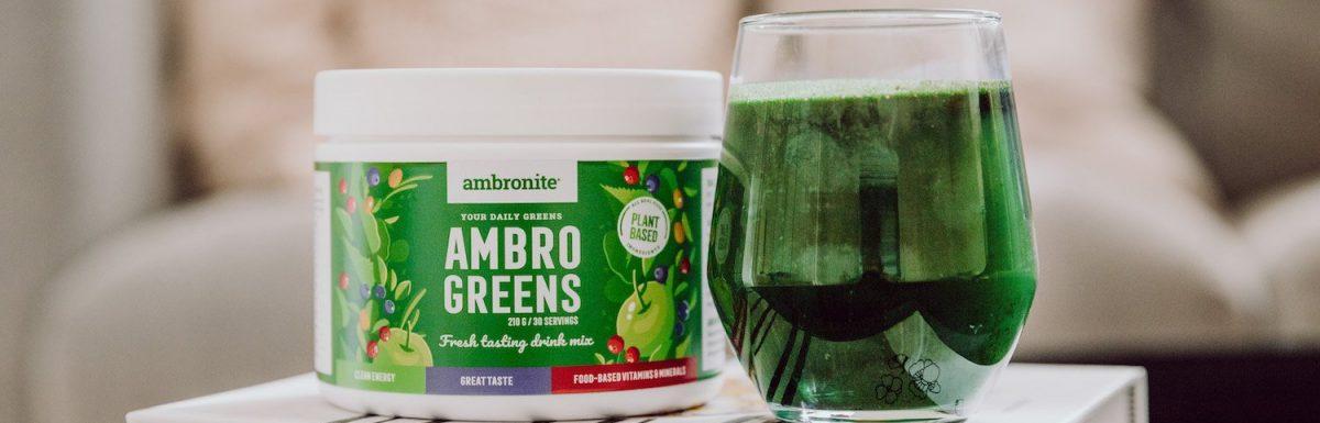 Nur 80 Cent pro Portion! Green Smothie Pulver: Ambrogreens von Ambronite