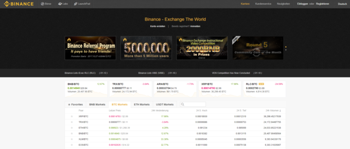 Auf Binance Kryptowährung kaufen – so geht's