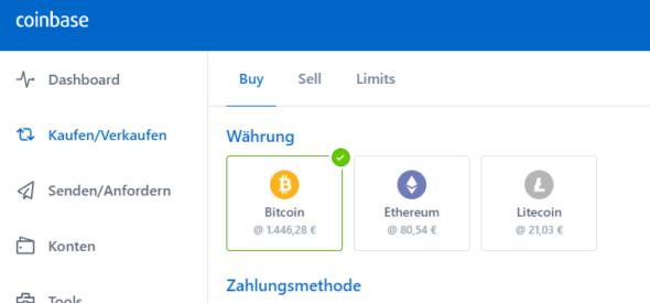 Bitcoins kaufen: Mit Coinbase