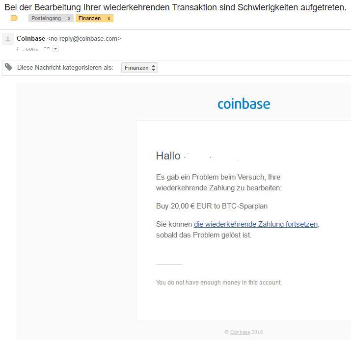 coinbase-fehler