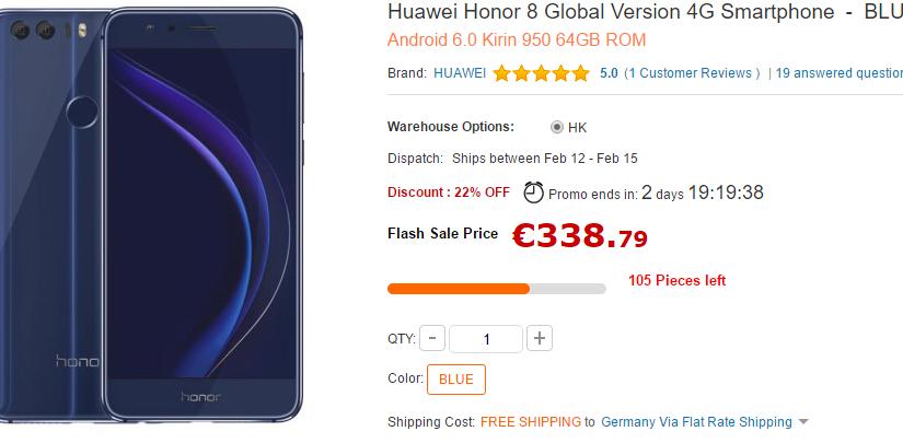 Huawei Honor 8 mit 64GB zum Schnäppchenpreis!