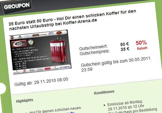 Vorsicht bei Groupon-Gutscheinen für Online-Shops