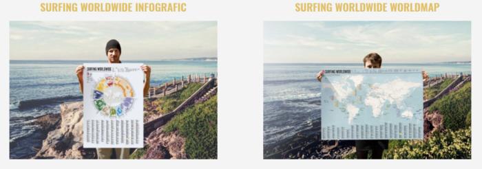 Surfing Worldwide Map