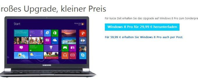 Windows 8 Pro für 30 Euro.