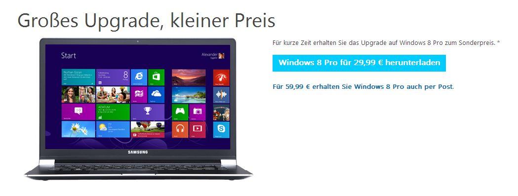 Windows 8 für 30 Euro
